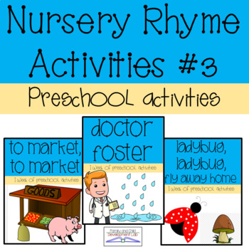 Preschool Nursery Rhyme Activities #3- Community Helpers