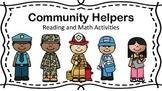 Community Helpers Preschool Reading and Math Activities