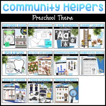 Community Helpers Bundle | Math & Literacy Activities