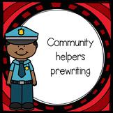 Community Helpers Prewriting Pack NO PREP