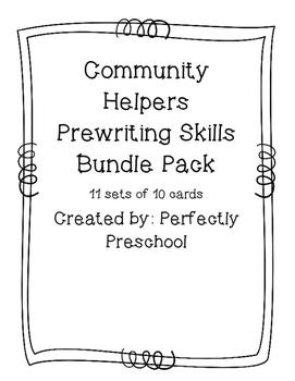 Community Helpers Prewriting Skills Bundle