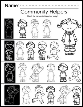 Community Helpers Print and Go Activity Pack