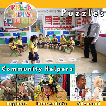 Community Helpers: Printable Puzzles
