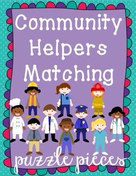 Community Helpers Puzzle Matching