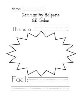 Community Helpers QR Code Fact Sheet
