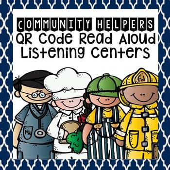 Community Helpers QR Code Read Aloud Listening Centers