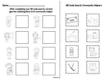 Community Helpers: QR Code Search & Find