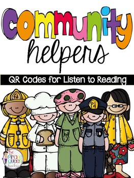 Community Helpers: QR Codes for Daily Five Listen to Reading Literacy Centers