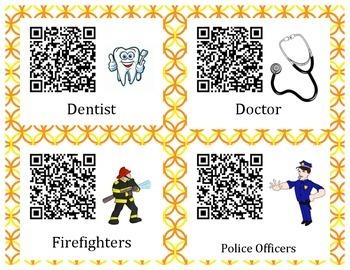 Community Helpers QR codes