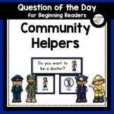 Community Helpers Question of the Day for Preschool and Kindergarten