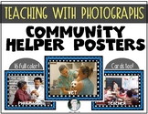16 Community Helpers {REAL PHOTOS} Posters & Cards for Kindergarten & First