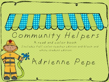 Community Helpers: Read and Color