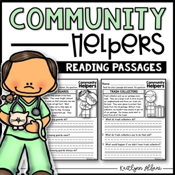 Community Helpers Reading Comprehension Passages