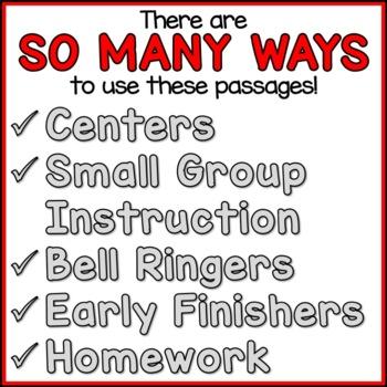 Community Helpers Reading Comprehension Passages (K-2) - Social Studies