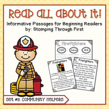 Community Helpers Reading Interest Pack for Beginning Readers
