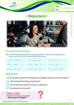 Community Helpers - Reporters - Grade 5