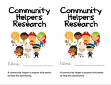 Community Helpers Research Booklet