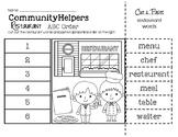 Community Helpers (Restaurant Words) ABC Order