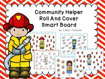 Community Helpers Roll And Cover For Smart Board With Paper Copies