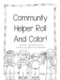 Community Helpers Roll and Color