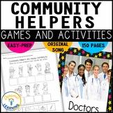 Community Helpers Worksheets| Kindergarten and First Grade