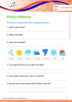 Community Helpers - Police Officers - Grade 1
