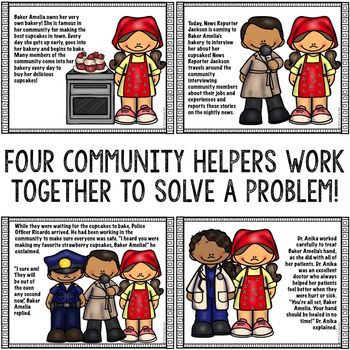 Community Helpers Storybook: Career Development/Education Career Exploration