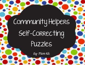 Community Helpers Self-Correcting Puzzle