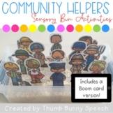 Community Helpers Sensory Bin Activity + Boom cards