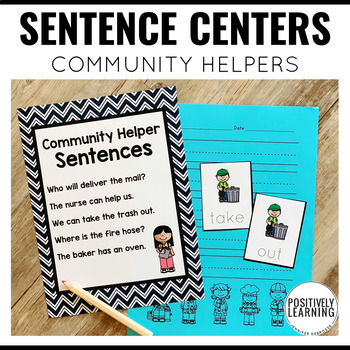 Community Helpers Sentence Builders