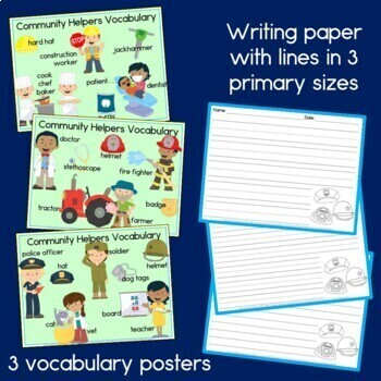 Community Helpers Literacy Center: Reading, Writing and printables