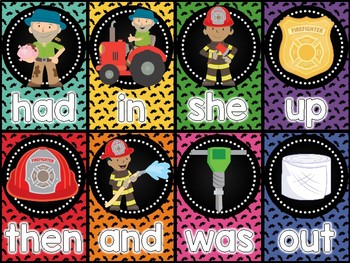 Community Helpers Sight Word Card Game
