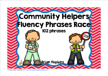 Community Helpers Sight Word Fluency Phrases Race