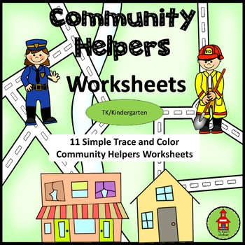 FREE! Community Helpers Simple Wrting Worksheets