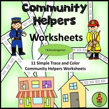 Community Helpers Simple Wrting Worksheets