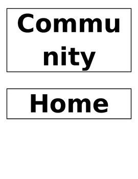 Community Helpers Sort