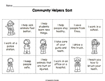 Community Helpers *Free* Sort
