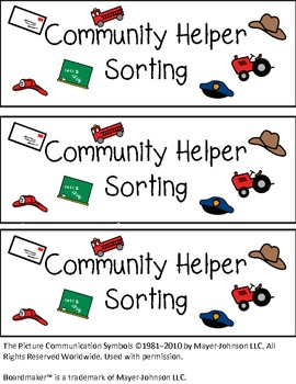 Community Helpers Sorting