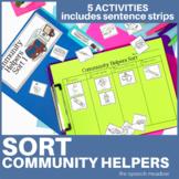 Community Helpers Sorting Activities