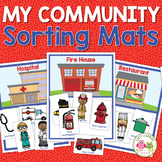 Community Helpers Sorting & Categorizing Activity | Sorting Mats and Pocket Book