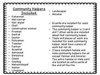 Community Helper Sorting Cards