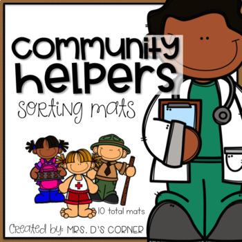 Community Helpers Sorting Mats ( 10 Total Mats )