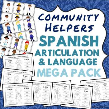 Community Helpers Spanish Articulation and Language MEGA P