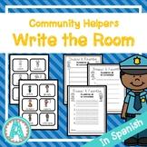 Community Helpers Spanish Word Hunt/Write the Room