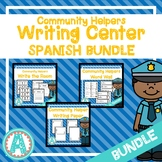 Community Helpers Spanish Writing Center **BUNDLE**