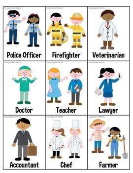 Community Helpers!  Speech & Language Activities