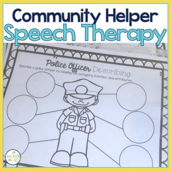 community helpers policeman speech