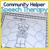 Speech and Language Themed Therapy Unit for Mixed Groups:  COMMUNITY HELPERS