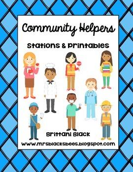 Community Helpers~ Stations & Printables