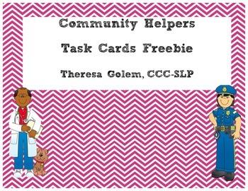 Community Helpers Task Card Freebie